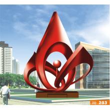 Grandes arts modernes abstraite sculpture en acier inoxydable pour décoration de jardin