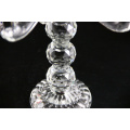 Econômico projetar o castiçal decorativo weddingtealight de vidro longo-provido do vidro