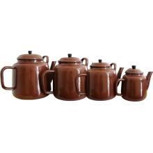 Pot de thé en émail en Afrique du Sud