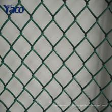 clôture galvanisée de lien de chaîne, maille métallique de diamant, clôture enduite de lien de chaîne de PVC