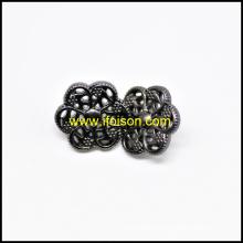Forme de fleur bouton tige métal pour manteau