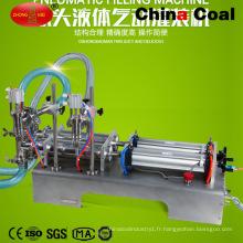 Machine de remplissage liquide de lavage de blanchisserie de piston de deux buses