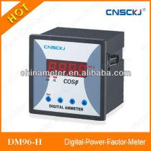 Medidor de factor de potencia de pantalla monofásica