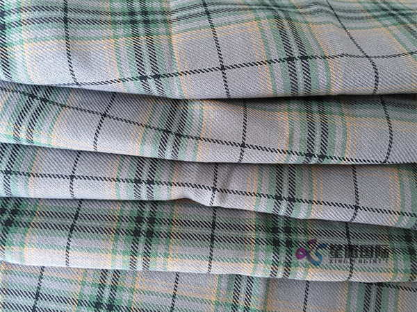 Woven Plaid Fabric For Apparel