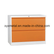 Orange and Green Color 2 Drawer Lateral File Cabinet