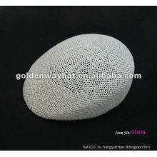 Белая бумага соломенная сетчатая крышка и шляпа плюща колпачки бумага оплетка мода 2014 дизайн