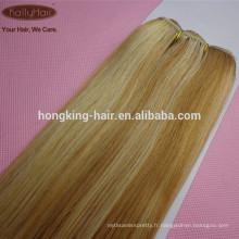 Couleur de piano 18 pouces enchevêtrement gratuit excrétion des extensions de cheveux libres de vrais cheveux humains
