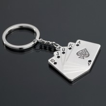 Fareast Hot vente métal Poker Keychain Ring