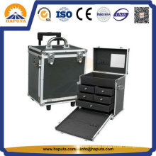 Trolley Makeup Train Case with 5 Storage Drawers