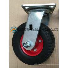 Roue solide de roulette de mousse d'unité centrale de 6 pouces avec le support de pivot