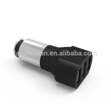 3 USB 26W 5.1A Car Charger Painel de alumínio Compacto Projetado para iPhone iPad Samsung Galaxy Asus Huawei Smartphones Android Tablet