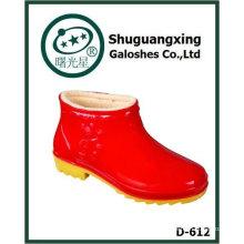 invierno cálido pvc rainboots para niños