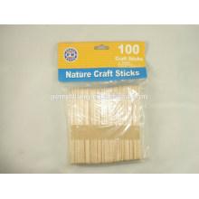 JML Flat Wooden Craft Sticks Wooden Craft Sticks Natural Craft Sticks