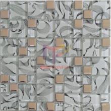 Titanium Crystal Mix Silk Backed Crystal Mosaic (CFC571)