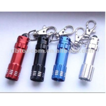3 led en aluminium mini keychain led torch light