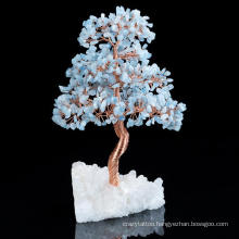 Wholesale Amethyst Rose Quartz Wire Wrapped Tree with Agate Slice Gemstone Tree Home Decorations