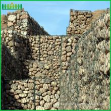 Maillage hexagonal de gabion de chute de roche
