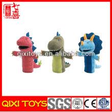 Fantoche de mão de dinossauro de brinquedo de fantoche de pelúcia Animal de fantoche de mão de dinossauro de brinquedo recheado