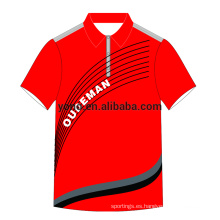 Camiseta de polo OEM dri fit para hombre, diseño caliente