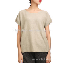 Knitwear 100% Cashmere Tee Womens Tee Shirt