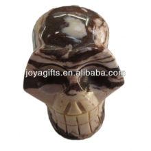 Talla de piedras preciosas cráneo natural rystal