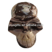 Escultura natural da pedra preciosa do crânio do rystal