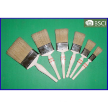 Shsy-999-Wh White Wooden Handle White Bristle Paint Brush