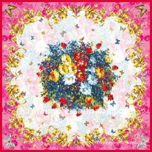 110 X 110cm foulards carrés en soie avec impression numérique