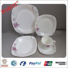 Стеклянная посуда из опала / 20шт. Квадратная форма / набор столовых приборов из опалового стекла