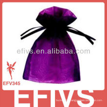 Purple Fashion Jeweled Organza Bags