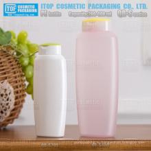 QB-S серии 200 мл 400 мл красивой овальной формы матовым закончить бутылка шампуня податливый hdpe пластиковые