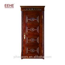 Foshan bordado diyar kail madeira porta do quarto