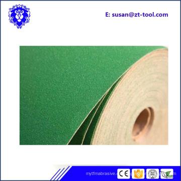 rollo de papel abrasivo de arena
