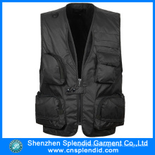 Custom Design Black 100%Polyester Work Vest