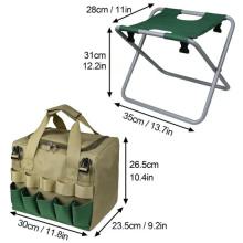 Garden Tool Bag with Tote and Folding Seat Gardener Tool Bag