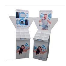 Paper Display Stand with Compartment, Cardboard Display Shelf