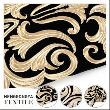 Классический дизайн вышитые чистой бархатной ткани для одежды