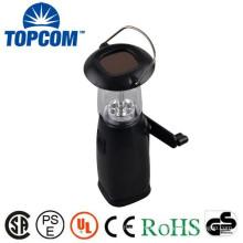 Plastic Body Hand Crank Lantern 6 LEDS Solar LED Lantern Portable