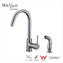 Haijun China Factory Deck Mounted Long Neck Thermostatic Kitchen Faucets