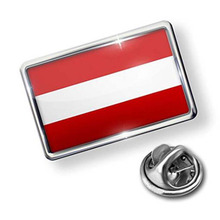 Österrike Flag Design Lapel Pin med Emaljfärger