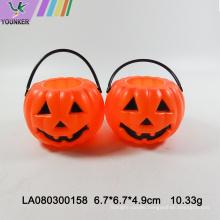 Halloween party candy pumpkin barrel