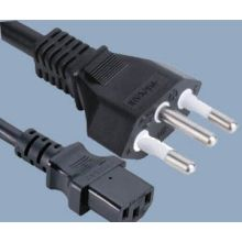Brazil Plug to IEC C13 Power Cable
