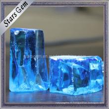 Prix bas Bonne qualité Bleu Cubique Zirconia Rough Raw Material