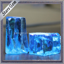 Low Price Good Quality Blue Cubic Zirconia Rough Raw Material