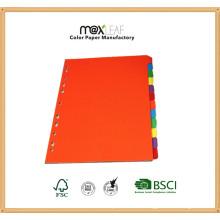 160GSM A4 Индивидуальный разделитель цветной бумаги