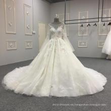 El último vestido de boda del vestido de boda de las mangas largas 2018 DY039
