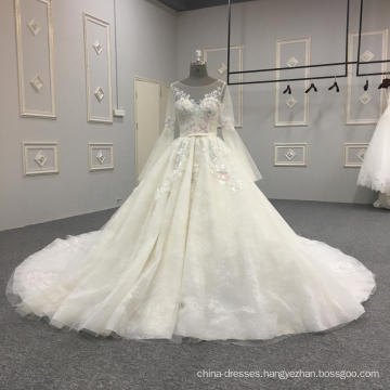 2018 latest design long sleeves wedding dress bridal gown DY039