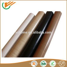 Tela de fibra de vidrio recubierta de PTFE de alta temperatura con adhesivo de silicona