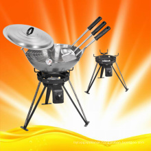 Campaign Cooking Gas Burner with Woks and Accessories