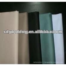 Tissu croisé en coton stretch 32x32 + 40D 133x56 teinté dans la masse